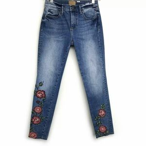 Driftwood Floral Embroidered Jackie Jeans